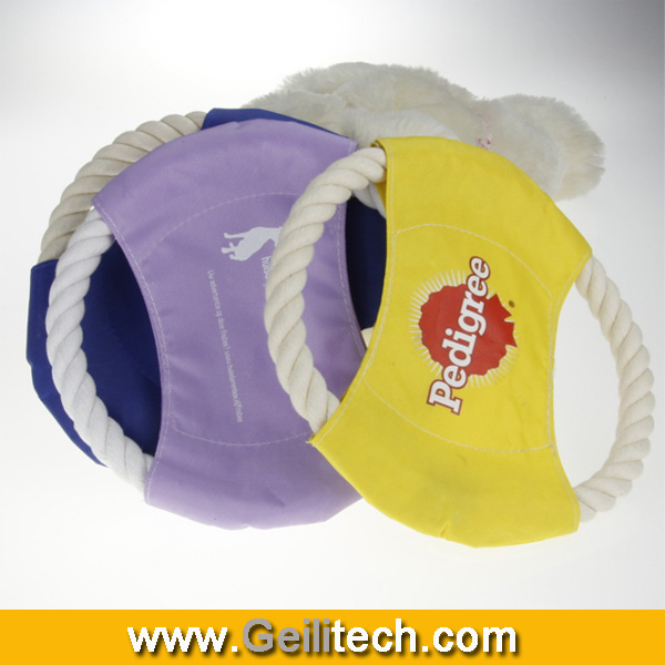 Wholesale Durable fabric rope frisbee for dog,with customed design dog frisbee