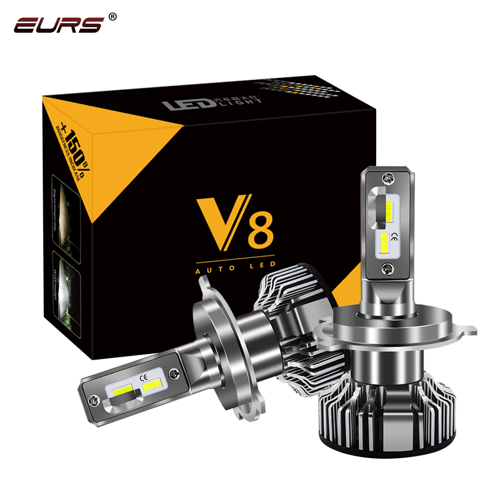 EURS 2 PCS H7 H11 100W 13000LM Car Headlight <strong>LED</strong> Canbus H4 Hi/Lo Beam H1 <strong>Led</strong> H3 H9/H8 6000K Chip <strong>Led</strong> ZES 24V 12V H11 <strong>Fog</strong> Lights