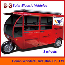 Environmental Sunshine Solar electric moped car for passenger