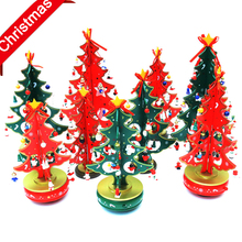 2016 Funny christmas tree decoration wooden music box christmas gift