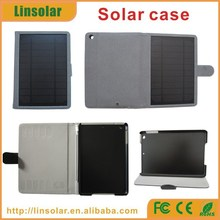 New PU Leather Flip Cover 6000mAh Solar Battery Charger Case for ipad mini