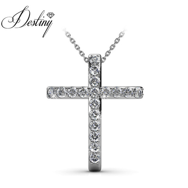 Destiny Jewellery Fashion Jewelry Beautiful choker necklace, charm necklace, Jesus cross necklace, Crystal from Swarovski
