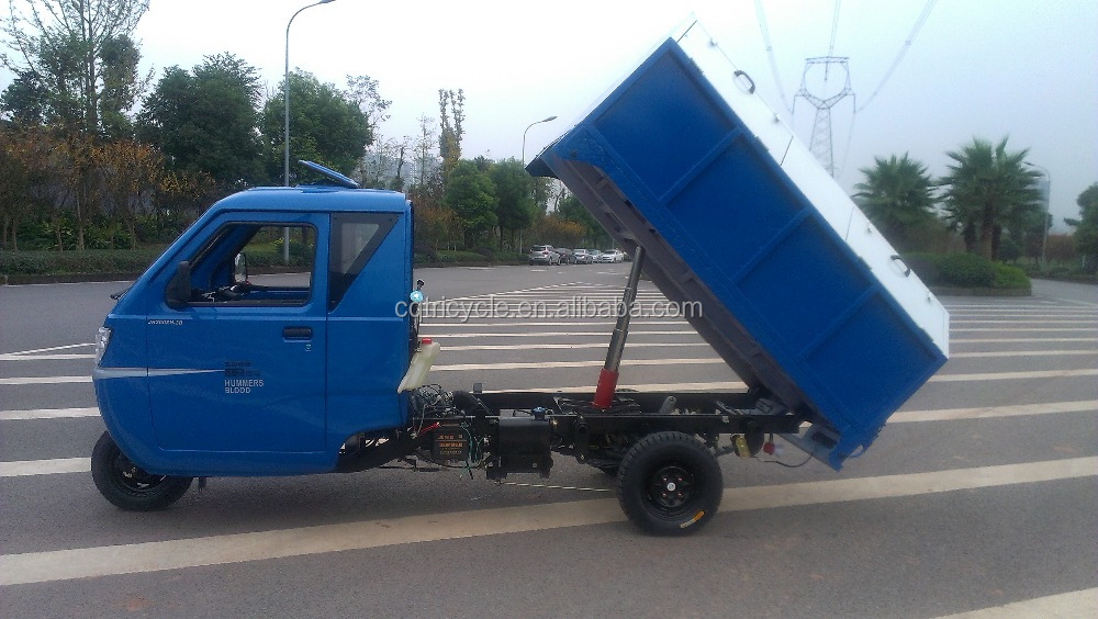 heavy truck garbage motor tricycle with hydraulic dumper