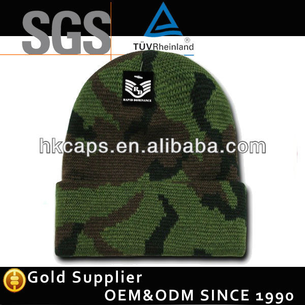 2013 Most Fashion Military Style Spandex Intarsia Winter Hats