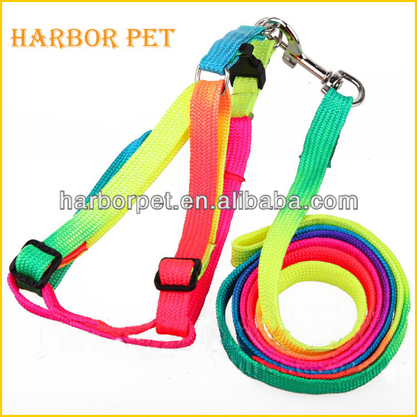 Wholesale Rainbow Nylon Leash For Small Dogs New Pet Product