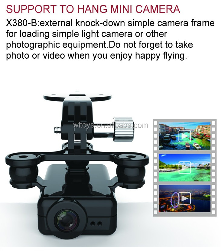 XK X380C 2.4G 4CH GPS RC Drone With Gopro Brushless Gimbal and 1080P HD Camera