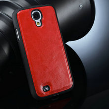 for samsung galaxy s4 carbon back cover, leather case for samsung galaxy s4 i9500 hot selling
