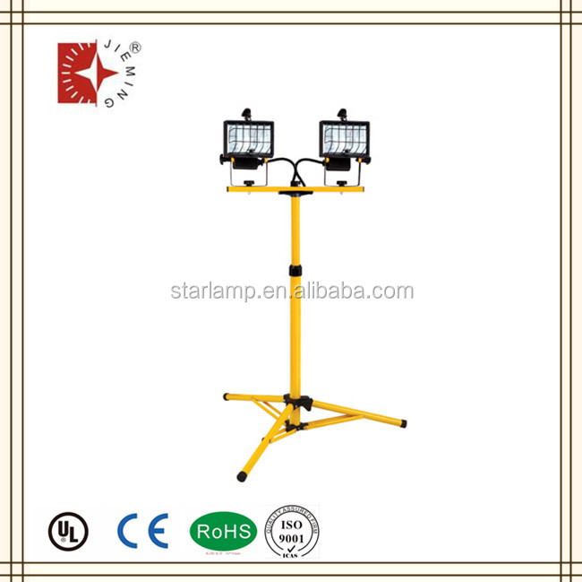 high quality 2 head halogen stand flood light 1000w