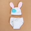 2016 new style lovely baby hat rabbit conjoined hat