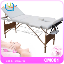 Portable Massage Table of wooden 3 section with PVC leather -masa de masaj