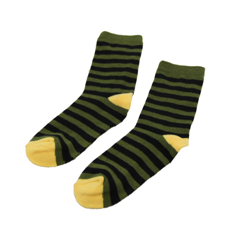GSC-42 Hot sale high quality yellow striped bamboo customized school socks