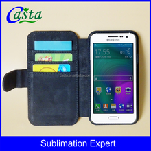 Manufacturer With magnetic buckle Leather Wallet Blank Sublimation mobile phone case For Samsung Galaxy A3 A3000