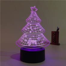 high quality cute baby night light rechargeable battery powered Christmas tree sensor night light