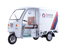 Half closed electric tricycle with Cabin for delivery