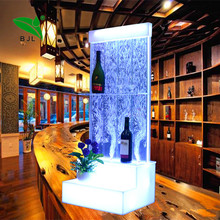 China supplier led new pub bar <strong>furniture</strong> water bubble bar cabinet for night club decor