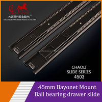 45MM Toolbox ball bearing drawer slide for metal box