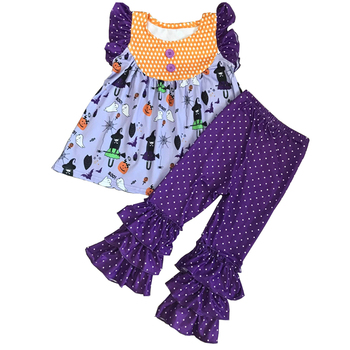 Baby Girl Boutique Clothing Sets Kids Outfit Halloween Girls Clothing Set