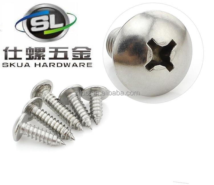 High quality fasteners big head self tapping screws