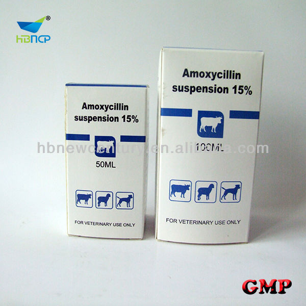 china veterinary meidicine 50ml 100ml Amoxycillin suspension/injection 7.5% 10% 15%