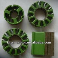 dc motor stator with green coating