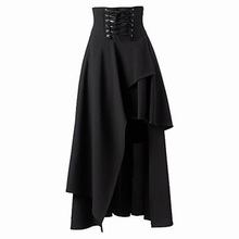 onen 2017 womens steampunk gothic black long skirt