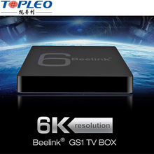 Hot sale new creation support 6K super tv box CPU Allwinner H6 USB 3.0 2GB RAM 16GB ROM Beelink android tv box
