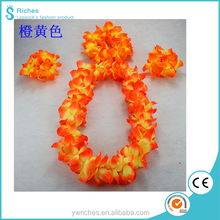 Yiwu Riches Fabric Wholesale Party 3 PCS head Graland / Bracelet Lei/ Hand Flower Lei Set