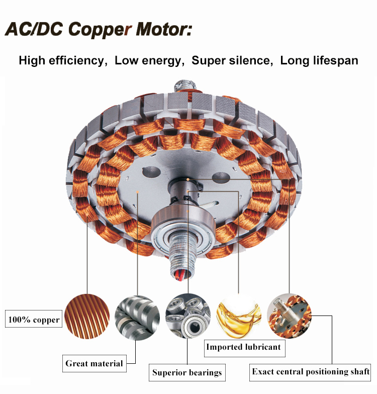 Home Appliances glass lampshade 52 inches modern decorative 220v cooling metal ceiling fan