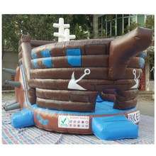 Factory price baby bouncer pirate ship bouncing house Inflatable castle from China jumping inflatable bouncy with slide made in