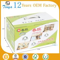 factory custom cheap paper waxed produce boxes
