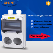 Multi-function outdoor plastic electric enclosure distribution box industrial combination socket box