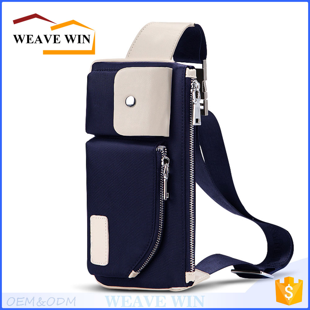 Wholesale Waterproof nylon Uniesx Custom Crossbody side sling bag for teenagers sport shoulder bag