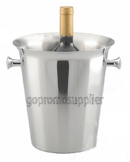 bar tools /stainless steel ice champagne bucket with ear handle