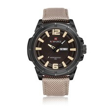 new men business nylon watch auto date clock army military 3d face japanese movement naviforce 9066 brand quartz wristwatch hot