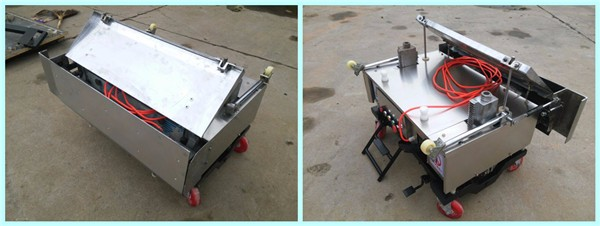 Automatic wall plastering machine, cement plaster machine for building