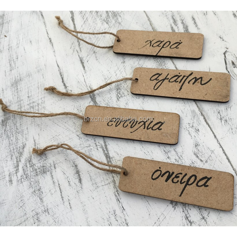 Various Design Natural MDF Wooden Gifts Hang Tags