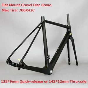 Max Tire700*42C Disc Flat Mount Gravel Road Bike Carbon Frame