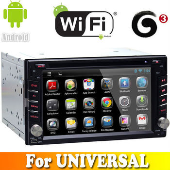 A9 Dual Core android 4.2.2 system touch sreen car dvd gps navigation for universal car audio radio bluetooth wifi 3G