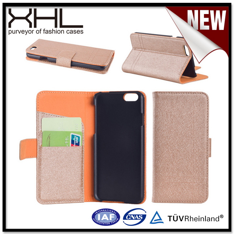 Contemporary latest black genuine leather case for iphone6