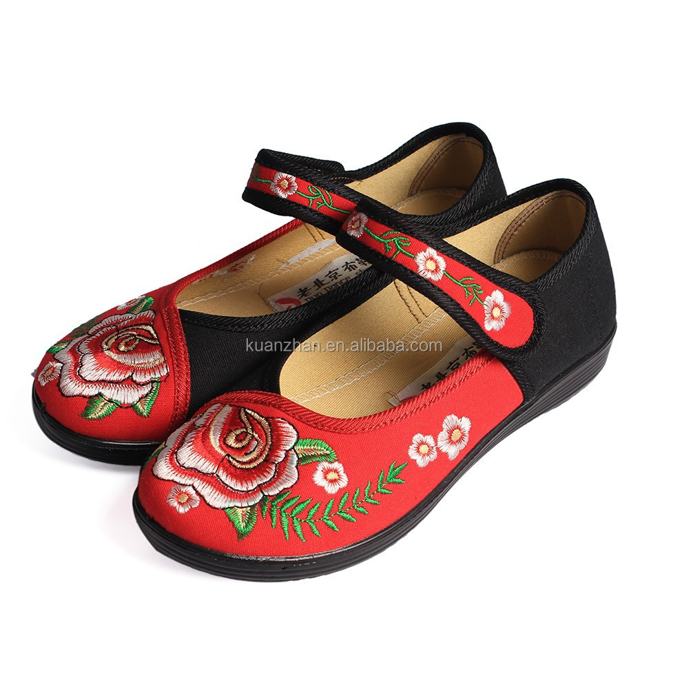 chinese summer sandals women flower shoes 2015