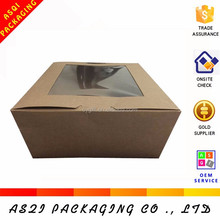 PVC window touch food directly chinese food box without any logo printed