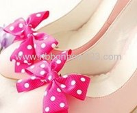 MSD Polka do ribbon bow for shoes/clothing decoration