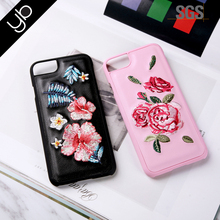 Wholesalehot selling rose embroider accessories mobile cell phone case cover for mobile phone