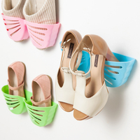 Beautiful Butterfly Shaped Plastic PP Wall Mounted Shoe Rack