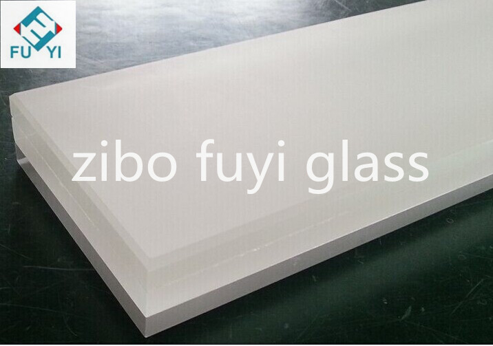6.38mm large sheet factory price decorative use safety building high quality milk white laminated glass