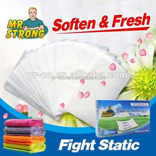High quality fabric softener sheets for clothes