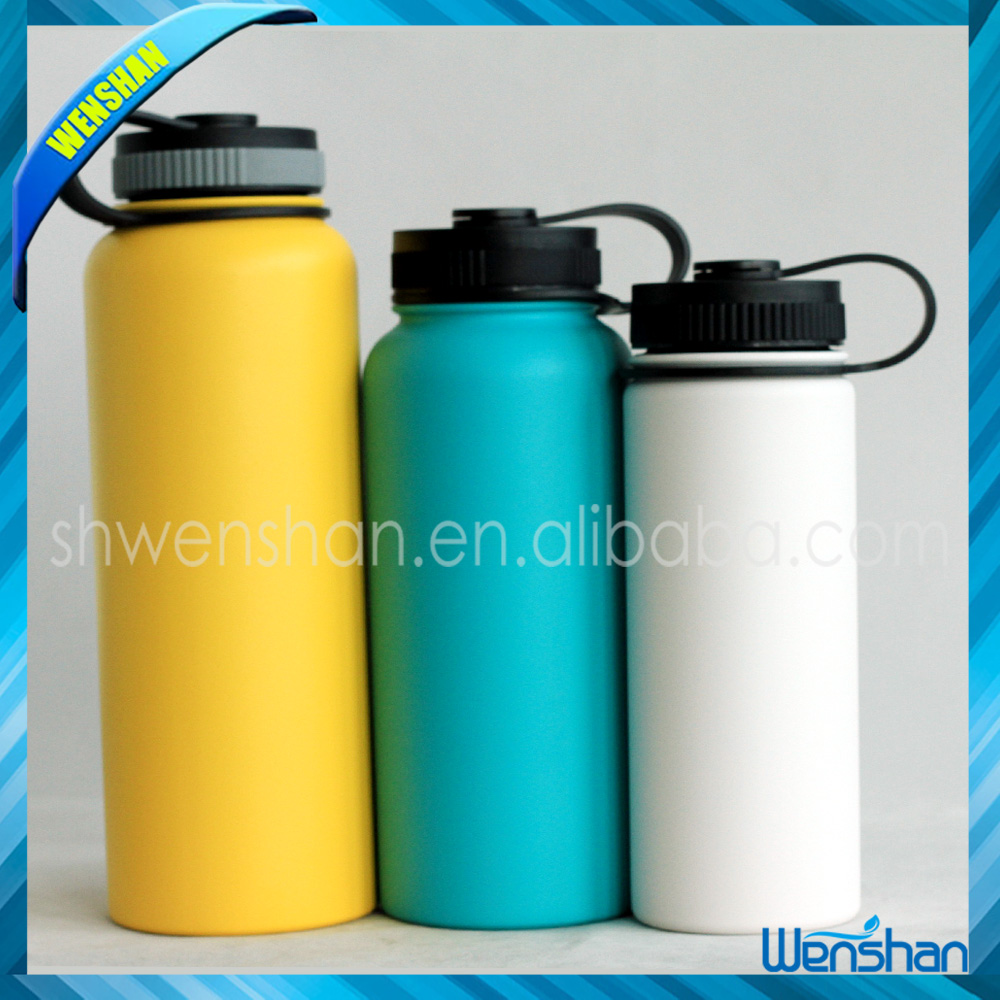 32oz Vacuum insulated 18/8 stainless steel water bottle wholesale hydro wenshan flask