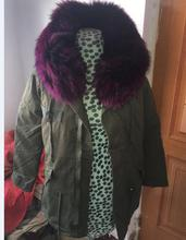 Top High Quality Ladies Coats And Jackets Woman Fox Fur Lined Parka Coat