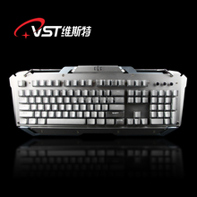 hot gaming keyboard European-style mechnical keyboard with 4 brightness Computer Keyboard/Macro programmable backlight with soft