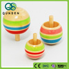 Promotional colorful spinning top toy wooden